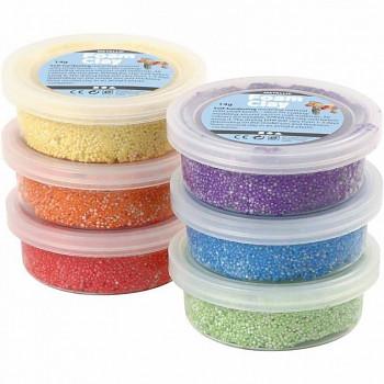 Foam Clay - samotvrdnoucí kuličková hmota, sada 6 barev
