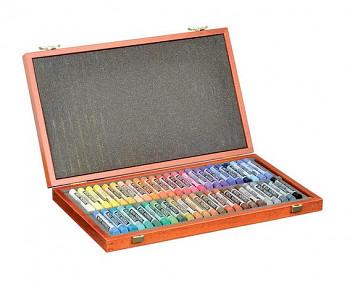 Luxusní sada pastelů Toison d'or 48ks v dřevěné kazetě