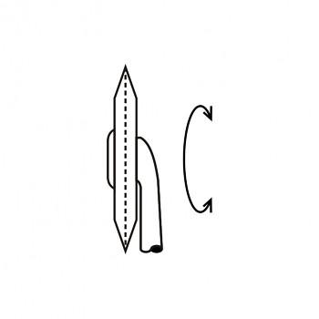 Ruleta malá 08 - řada teček 0,3 - průměr 4mm