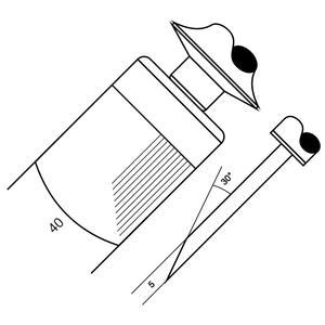 Skoblina 4004 - 25 drážek / cm