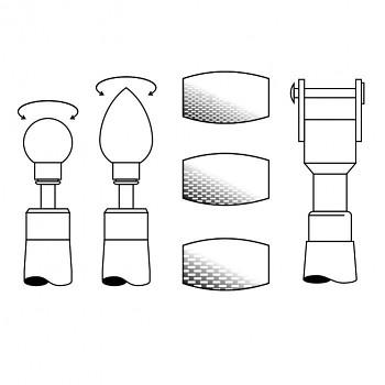 Muleta combi 2012 - set 5 vyměnitelných válečků