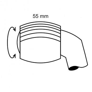 Ruleta velká 32 - čárkovaný rastr 0,1 - průměr 7mm