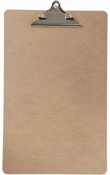 Clipboard - deska s klipem A3 hnědá mdf